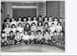 Kenwood Afternoon Kindergarten 1955, Mrs. Torrey: Front Row L-R: Ed Delph, Frank Helberg, Terry Busdecker, Mark Hirth, B